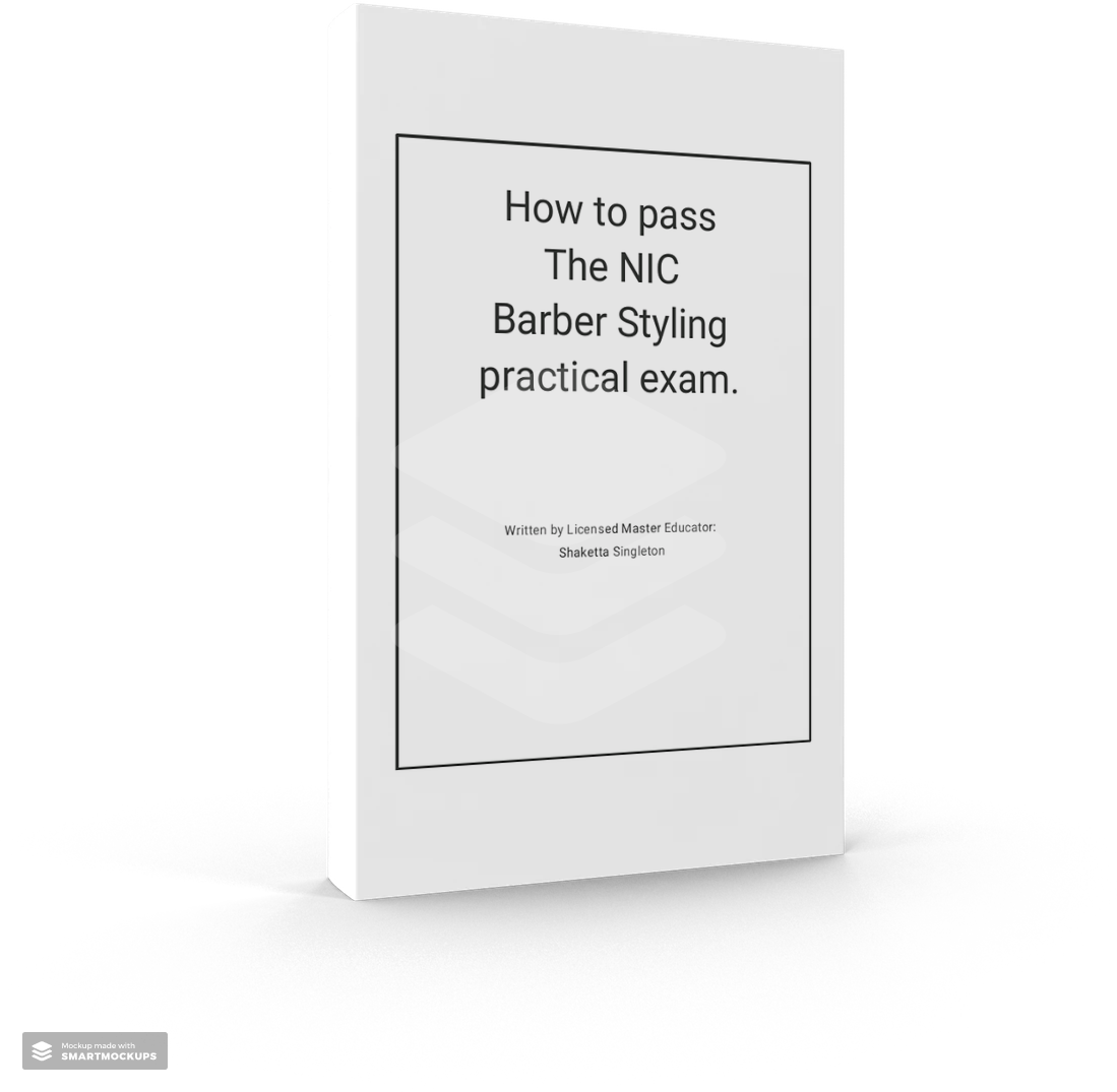 How to pass the NIC  Barber Styling (chemical services) state board exam digital book